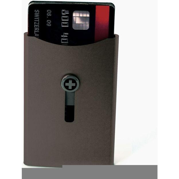 Kartenhalter mit Geldnoten-Clip bronze