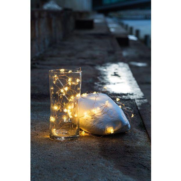 Guirlande lumineuse fil de coeurs blanc