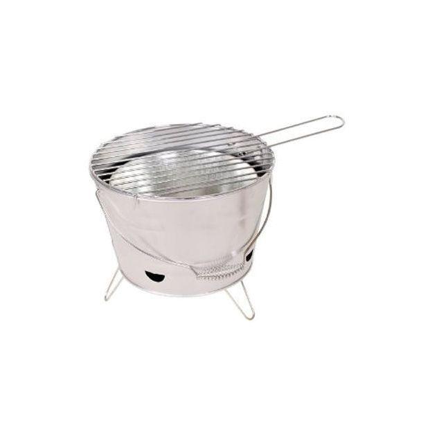 Grill BBQ Bucket silber/grau