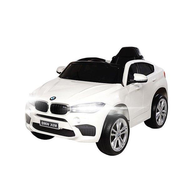 BMW X6 M weiss, Elektroauto für Kinder 12V