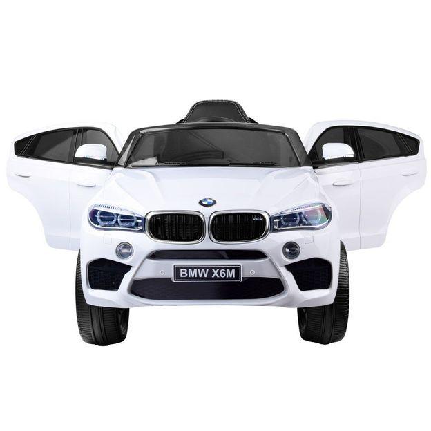 BMW X6M 12V weiss, Elektroauto Kinder
