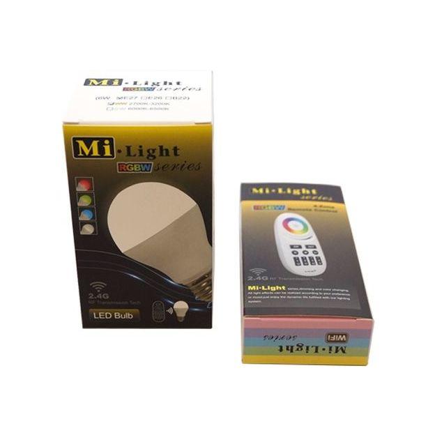 Ampoule Milight LED couleurs télécommandée 6 W