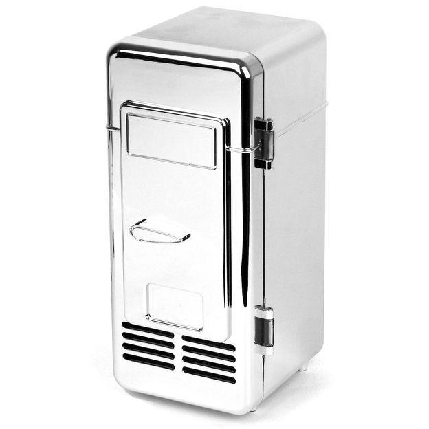 Réfrigérateur USB pour canette argent