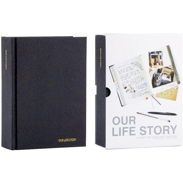 Tagebuch - Our Life Story schwarz