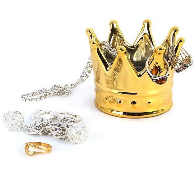 Schmuckhalter Krone gold