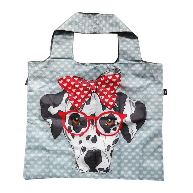 Einkaufsbeutel zusammenfaltbar Hund mit Brille