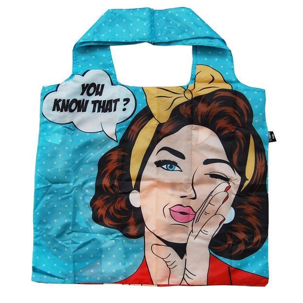 Einkaufsbeutel zusammenfaltbar Pop Art