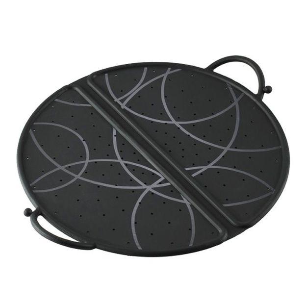 Couvercle anti projection pliable de Kuhn Rikon noir 30 cm