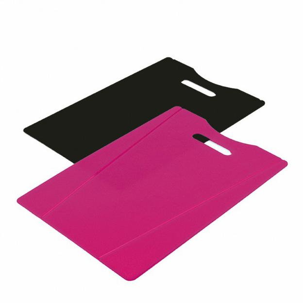 Set de 2 planches à découper Kuhn Rikon rose/noir