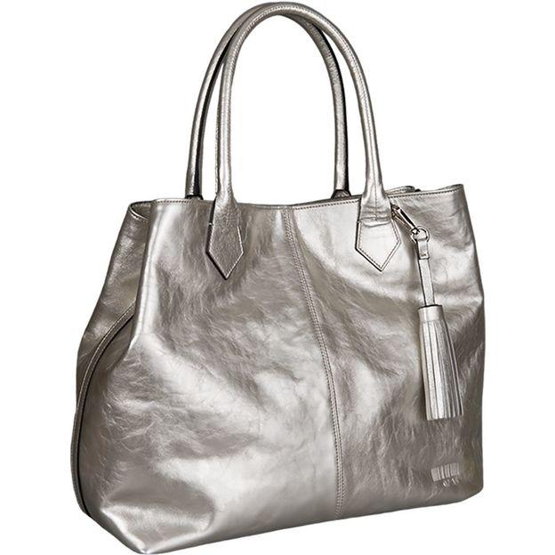 Shopper Kirsten Metallic silber