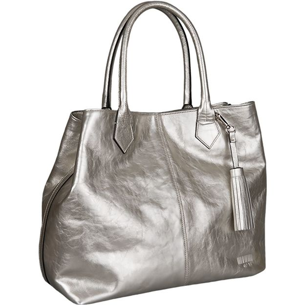 Shopper Kirsten Metallic silber