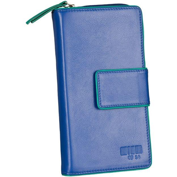 0714 Portemonnaie gross mit Lasche royal/smaragd