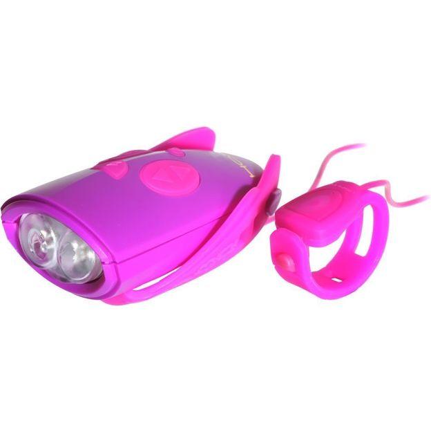 Lumière de Vélo Mini-Hornit Rose/Violet
