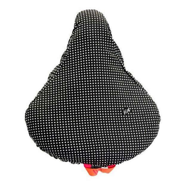 Fahrrad Sattelschutz Polka Dot Black
