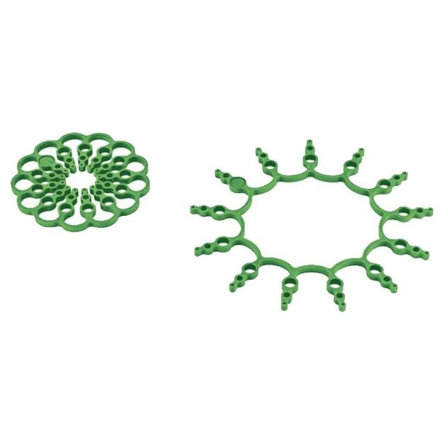 Topfuntersetzer Set 2-teilig Silikon grün