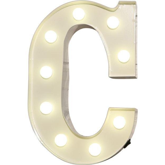 Lettre lumineuse C