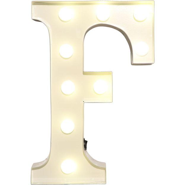 Lettre lumineuse F