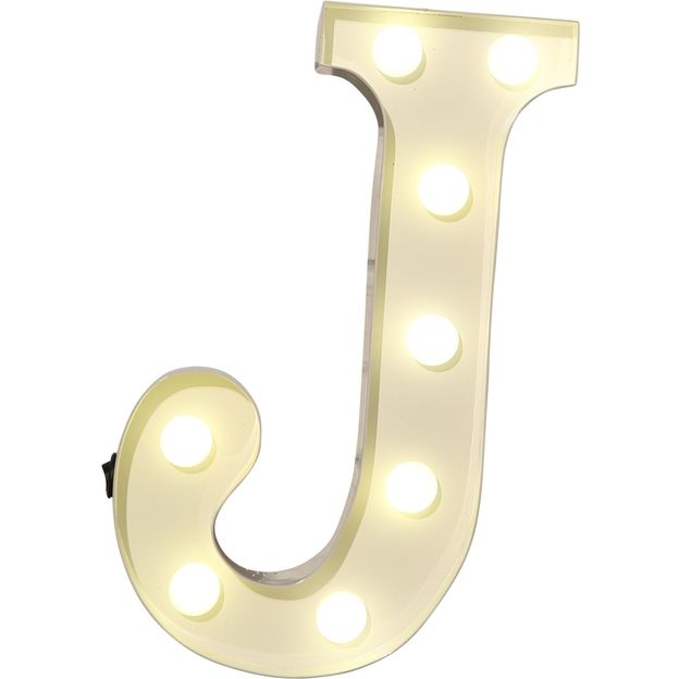 Lettre lumineuse J