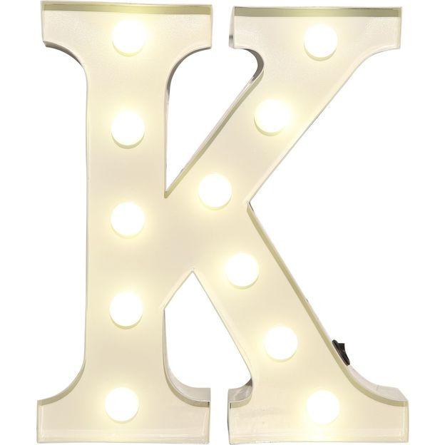 Lettre lumineuse K