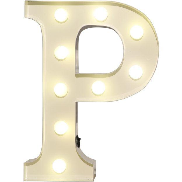 Lettre lumineuse P