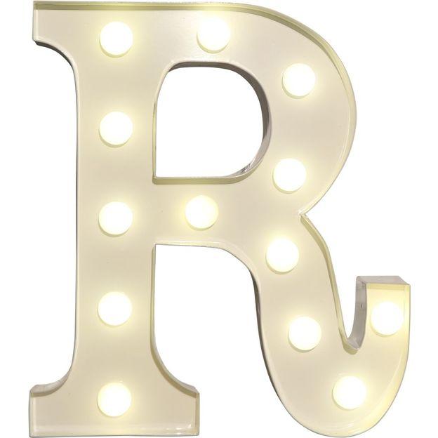 Lettre lumineuse R