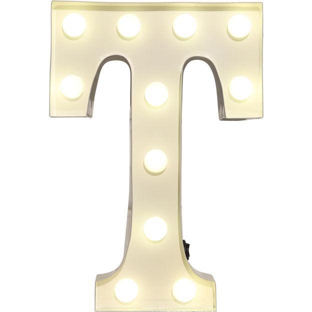 Lettre lumineuse T