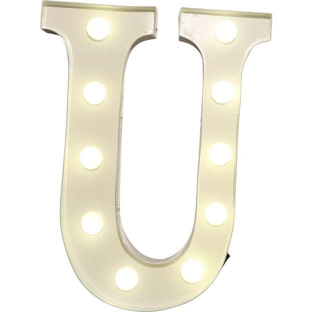 Lettre lumineuse U