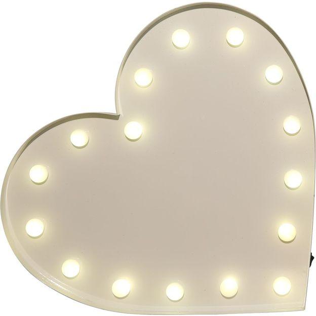 Symbole lumineux coeur
