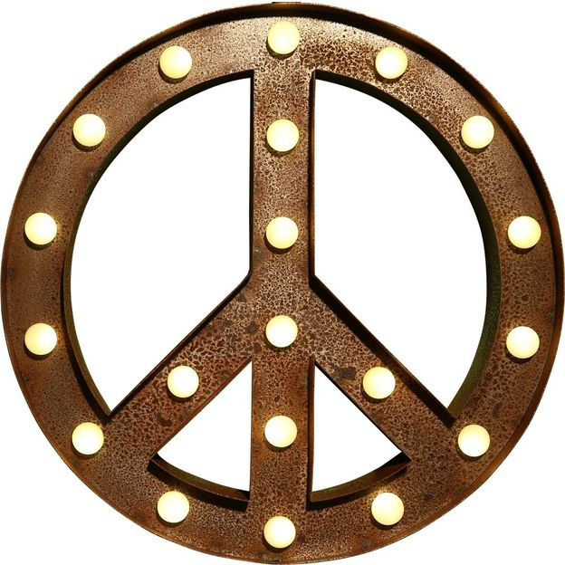 Leuchtsymbol Peace Vegas Lights
