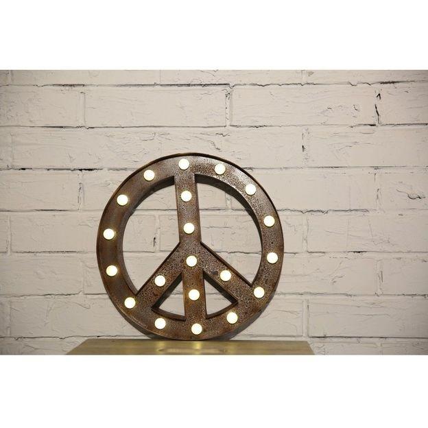 Symbole Peace lumineux
