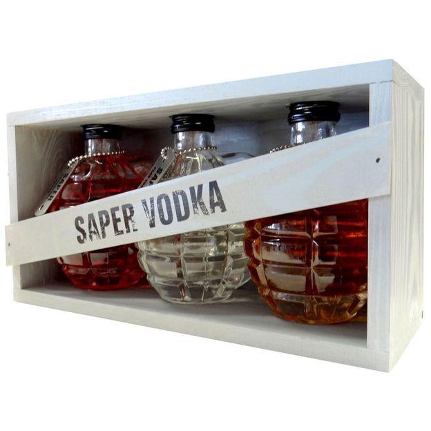 Red Army Handgranaten Set, Vodka, 3 x 200ml
