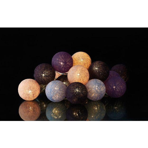 Guirlande lumineuse boules avec LED Violet