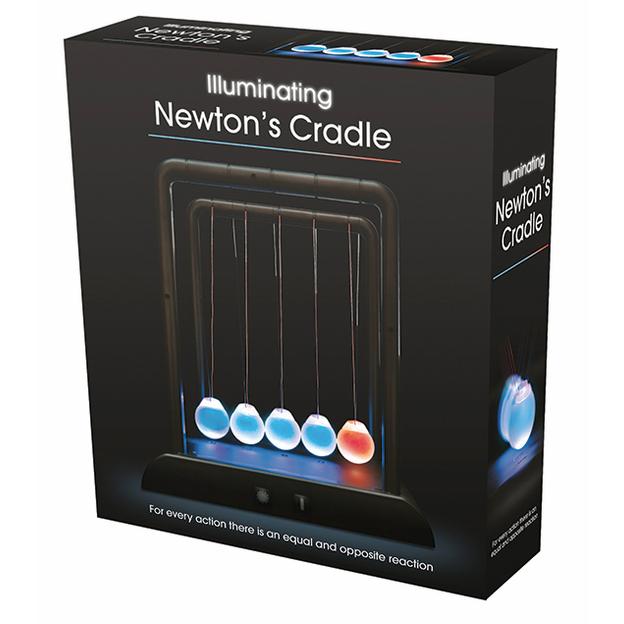 Newton-Pendel beleuchtet