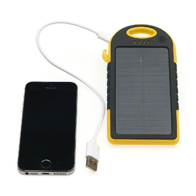 Solar Powerbank 5000 mAh schwarz-gelb
