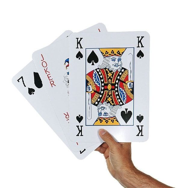 Pokerkarten in Jumbo-Grösse