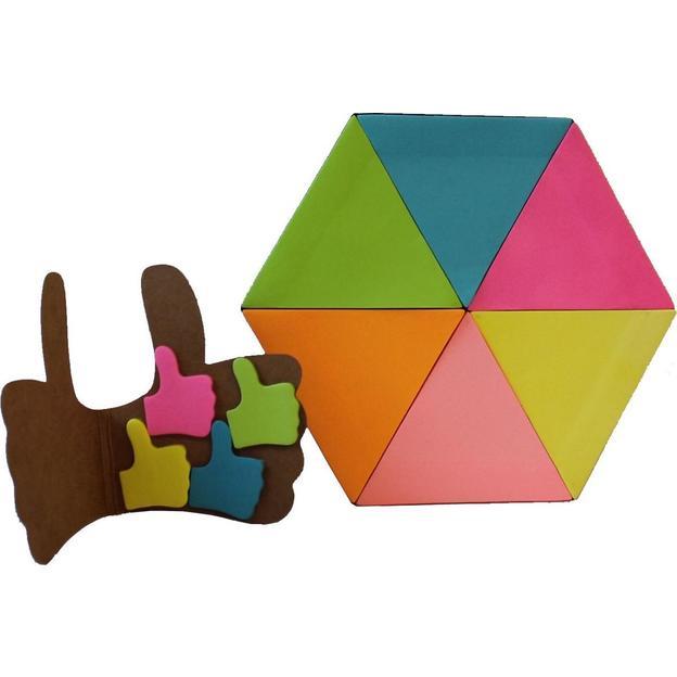 Notizzettel Set Daumen hoch und Dreieck