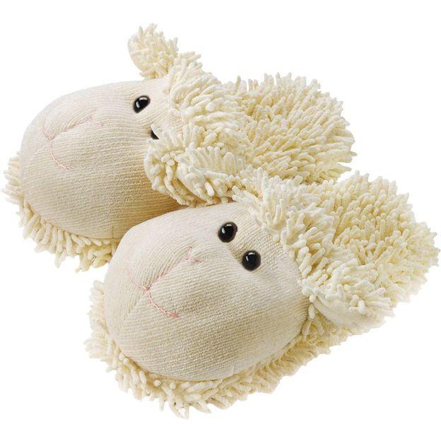Fuzzy Friends Hausschuhe Schaf weiss