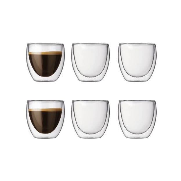 Espresso 6er Set PAVINA doppelwandig von Bodum