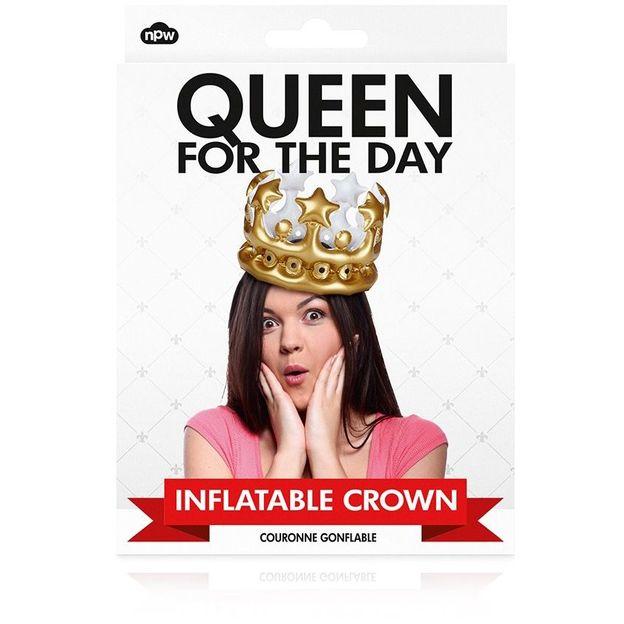 Aufblasbare Krone Queen for the Day