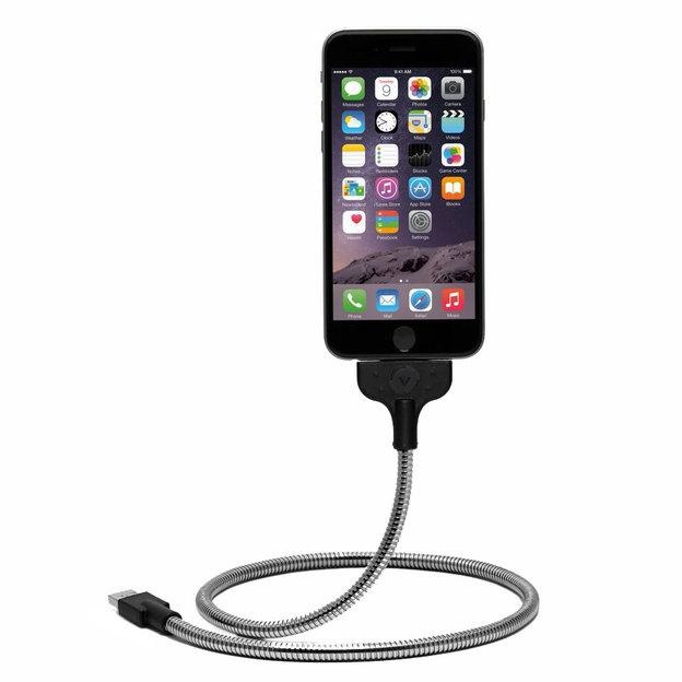 Flexibles iPhone Ladekabel inkl. Docking Station