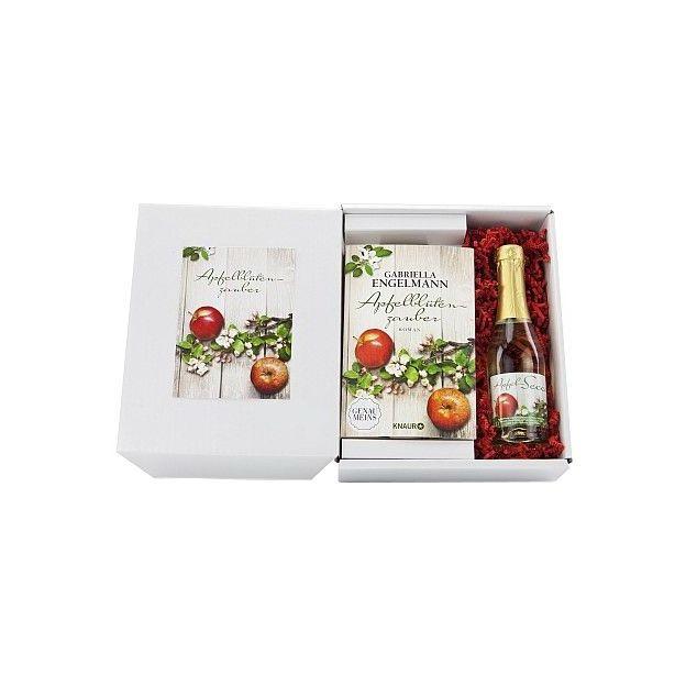 Buch mit Apfelsecco - Apfelblütenzauber