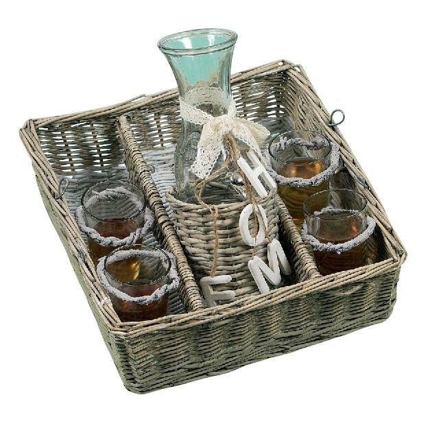 Trink-Set im Korb Home