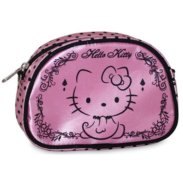 Hello Kitty Necessaire rosa/schwarz