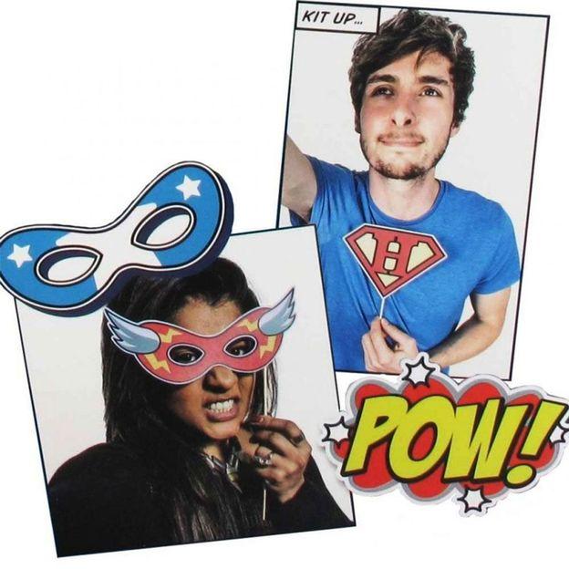 Superhelden Selfie Kit