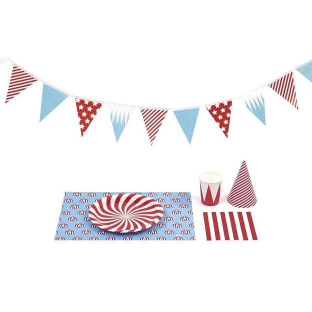 Set de décoration de table thème cirque