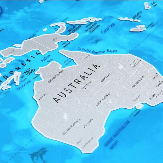 Carte du monde à gratter édition Océan