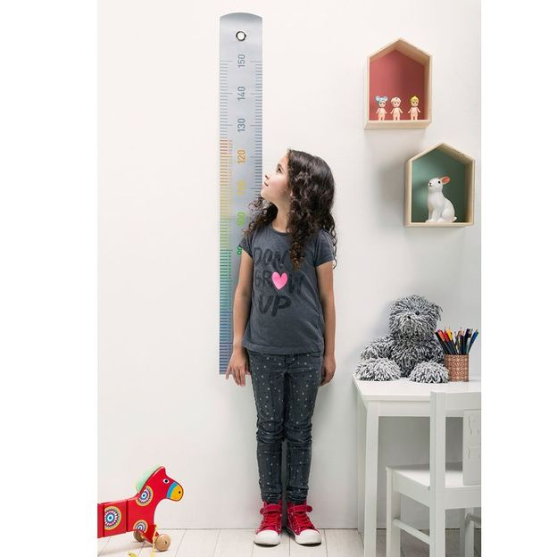 Wand Massstab für Kinder zum Rubbeln