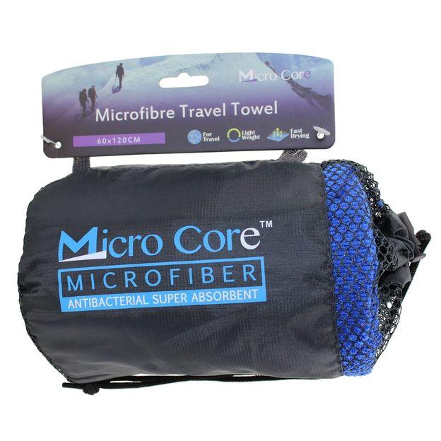 Mikrofaser Reisehandtuch mit Hülle blau