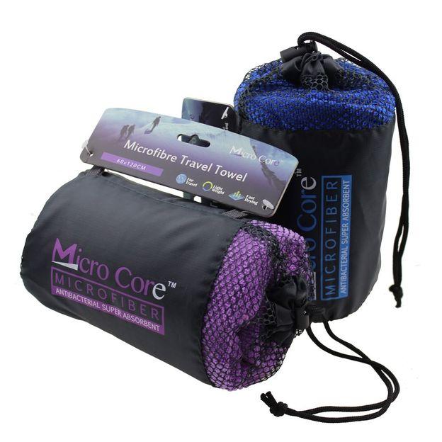 Mikrofaser Reisehandtuch mit Hülle violett
