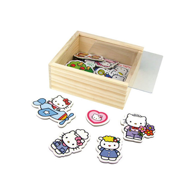 Hello Kitty Magnete aus Holz